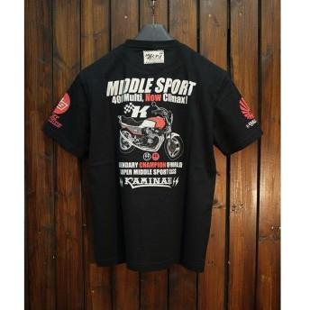 エフ商会 KAMINARI MOTORS カミナリオートバイ KMT-178 WORLD'S FIRTST Tシャツ ホンダ CBX400F
