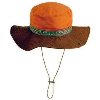 キャプテンスタッグ 帽子・防寒・エプロン トレッキング&シティーハット フリー オレンジ×ブラウン