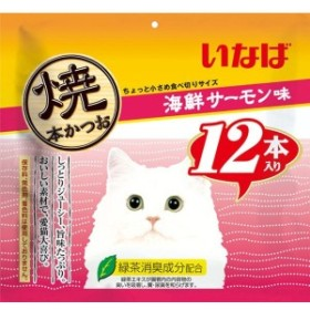 焼本かつお 海鮮サーモン味 12本