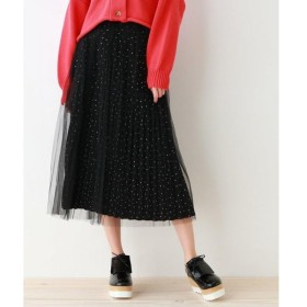 OZOC / オゾック チュール重ねプリーツスカート