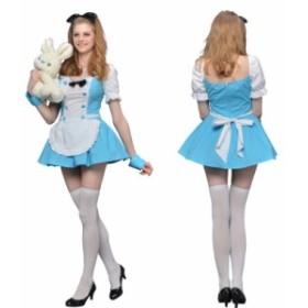 【送料無料】【在庫処分】ハロウィン コスプレ 仮装 レディース メイド 不思議の国のアリス プリンセス コスチューム