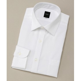 【SALE(伊勢丹)】<ビージーアール> ショートセミワイド白ドビーストライプドレスシャツ(3047421111) ホワイト 【三越・伊勢丹/公式】
