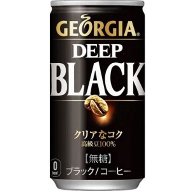 【送料無料(沖縄・離島除く)】ジョージア ディープブラック 185g 1ケース(30本)【缶コーヒー】