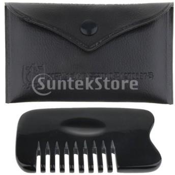 ヘアブラシ ヘアコーム 髪櫛 頭皮マッサージ 8本歯 帯電防止 ブラック