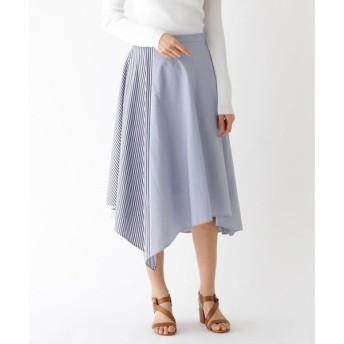 aquagirl / アクアガール イレギュラーストライプ切替スカート