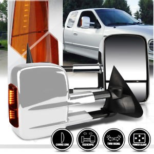 FOR 97-04 F150//-99 F250 LIGHT-DUTY DUAL ARM POWER REAR VIEW TOWING MIRROR PAIR