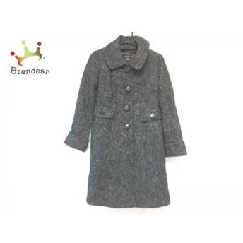 ジャスグリッティー JUSGLITTY コート サイズ2 M レディース 黒×アイボリー スペシャル特価 20190223