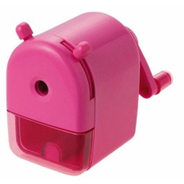 [クツワ] ミニ卓上えんぴつけずり ピンク