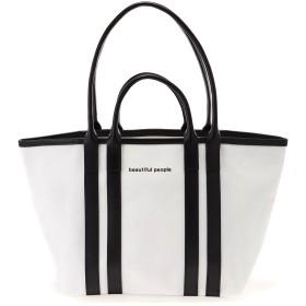 beautiful people shape memory canvas W handle bag トートバッグ,ホワイト