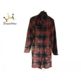 デシグアル Desigual コート サイズ40 XL レディース レッド×黒×マルチ 冬物/チェック柄    値下げ 20190306
