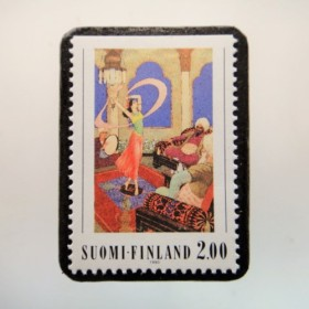 フィンランド 童話切手ブローチ4668