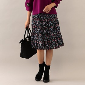 【SALE(三越)】<TO BE CHIC/TO BE CHIC> 【ウォッシャブル】フラワープリントスカート(W5S08821__) クロ 【三越・伊勢丹/公式】