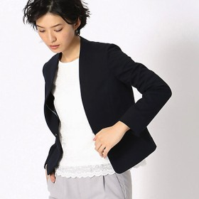 <COMME CA ISM (レディース)> 日本素材 ジャージー ノーカラー ジャケット(1220JL02) 09 【三越・伊勢丹/公式】