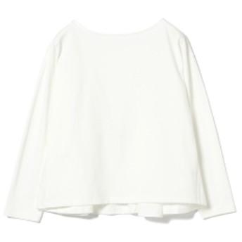 Ray BEAMS / バック フレア ボートネック Tシャツ レディース Tシャツ WHITE ONE SIZE