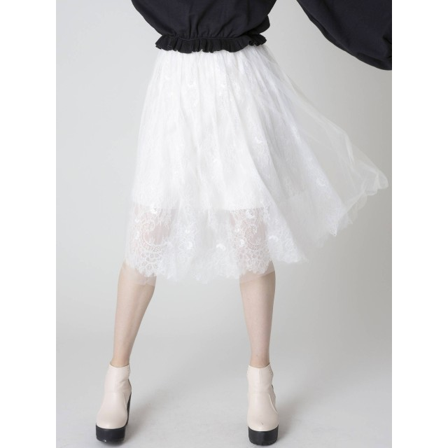 [dazzlin]【S】かさねチュールスカート