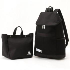 バッグ カバン 鞄 レディース リュック レディース ミニトートバッグ付きメッシュリュック 「ブラック」