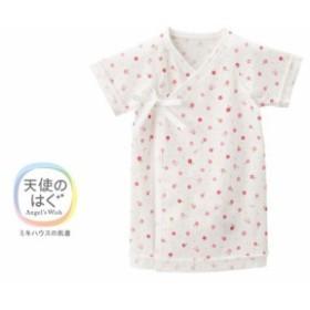 [MikiHouse]ピュアベール天使のはぐ お花柄の天竺短肌着(40-2160-959)