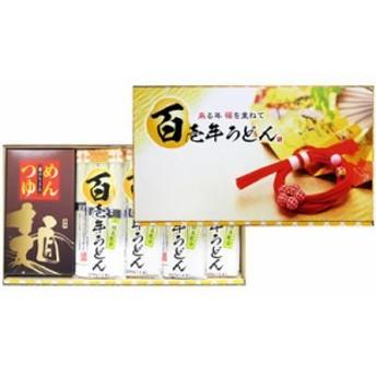 三盛物産 PPB-20T 百壱年うどん つゆ付き [茶うどん (50g×4束)×4袋、めんつゆ 20ml×8袋] (PPB20T)