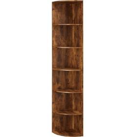 カラーボックス Nカラボ コーナー6段(ミドルブラウン) ニトリ 『玄関先迄納品』 『1年保証』