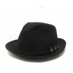a8d92b28c6f5 ロアー roar ハット 帽子 中折れ スワロフスキー 装飾 スター ウール 黒 ブラック 2 メンズ
