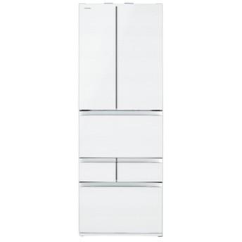 東芝508L 6ドアノンフロン冷蔵庫VEGETAクリアグレインホワイトGRR510FZUW