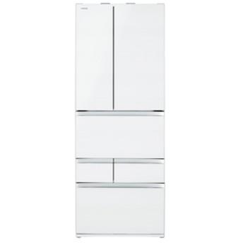 東芝551L 6ドアノンフロン冷蔵庫VEGETAクリアグレインホワイトGRR550FZUW