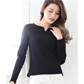 Tシャツ - Janiss テレコ3連パール付ロングTシャツ