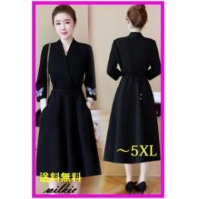 ワンピース レディース ロング ドレス 大きいサイズ 30代 40代 人気  827