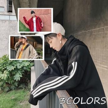 カーディガン パーカー ファッション 韓国風 カジュアル 秋 冬もの 暖かい フード付き メンズジャケット 通勤 アウター 大きいサイズ