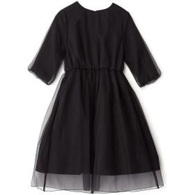 OKIRAKU レイヤードドレス カラーフォーマル,ブラック