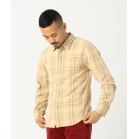 REMI RELIEF × BEAMS PLUS / 別注 チェックシャツ 19ss メンズ カジュアルシャツ YELLOW M
