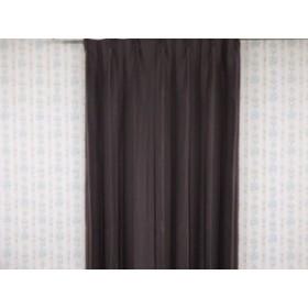 【遮光性】ボーンライン ストライプデザイン カーテン200×230cm プリーツ加工 ダークブラウン色 1枚入り