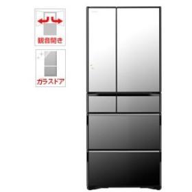 (標準設置 送料無料) 日立 615L 6ドア冷蔵庫(クリスタルミラー) HITACHI WXシリーズ R-WX62K-X 返品種別A