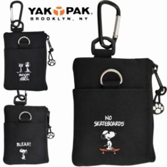 YAKPAK(ヤックパック) SNOOPY& FARON ジョークール スヌーピー パス付きコインケース 定期入れ ICカードケース(YAKSN-054)