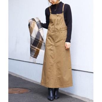 レカ サロペットスカート レディース ベージュ M 【reca】