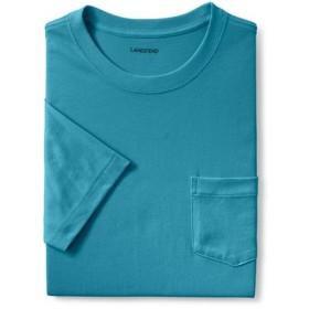 【ランズエンド LANDS' END】メンズ・スーパーT/ポケット付き/半袖/XS/ブルー