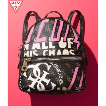 ANAP(アナップ)GUESS URBAN CHIC LOGO PRINT SMALL BACKPACK