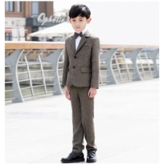7c713761589ba 子供スーツ 男の子 キッズ フォーマル 4点セット ジャケット 長ズボン シャツ 蝶ネクタイ 卒業式