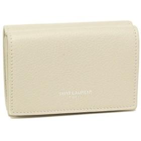 【返品保証】 サンローラン 折財布 レディース SAINT LAURENT PARIS 459784 B680N 9207 ホワイト