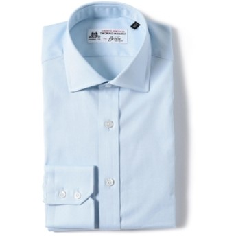 Brilla per il gusto / ロイヤルオックスフォード ワイドカラーシャツ(THOMAS MASON fabric) メンズ ドレスシャツ SAX 37