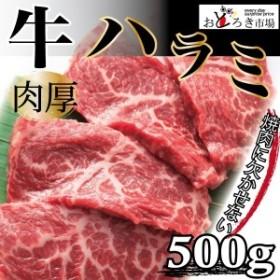 牛肉 焼肉 バーベキュー やわらか厚切りハラミ 500g BBQ