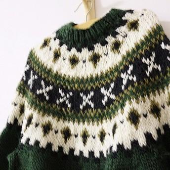 【受注製作】刺繍 100%ウール・カーディガ・ セーター ニット HT-40