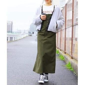 レカ サロペットスカート レディース カーキ M 【reca】
