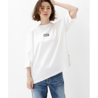 BASE STATION / ベースステーション BSCL胸ロゴ刺繍スーパービッグTシャツ