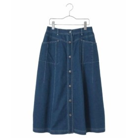 HIROKO BIS / ヒロコビス 【洗濯機で洗える】デニムロングスカート