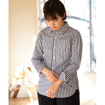 BEAMS BOY / ロンドンストライプ ボタンダウンシャツ レディース カジュアルシャツ NAVY 1