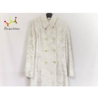ケイタマルヤマ KEITA MARUYAMA コート サイズ1 S レディース 美品 白 フェイクファー/冬物 スペシャル特価 20190914