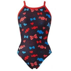 ミズノ(MIZUNO) ジュニア 競泳水着 エクサースーツ ミディアムカット レッド N2MA9476 62 練習用 女子用競泳水着 女の子 トレーニング 水着 スイムウェア