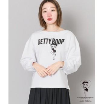 SENSE OF PLACE(センスオブプレイス) トップス スウェット Betty Boop(TM)スウェットシャツB(7分袖)