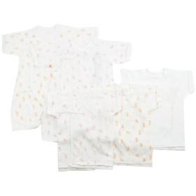 [半袖・七分袖]新生児肌着5点セット くまダンス ピンク インナー・パジャマ 新生児・乳児(50~80cm) 新生児肌着セット (51)